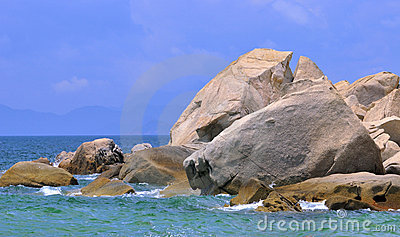 Sea shore rock