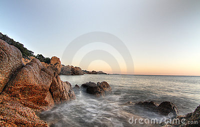 Sea shore with rocks