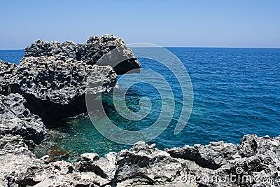 Sea shore with rocks