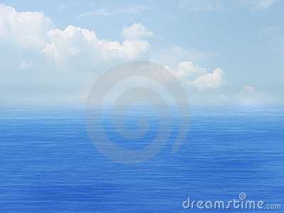 Sea, sky and clouds