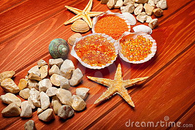 Sea Spa - bath salt and sea-shell