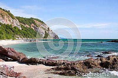 Sea stone coast
