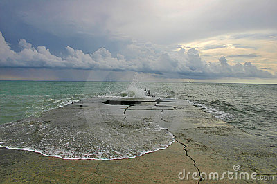 Sea storm landscapes