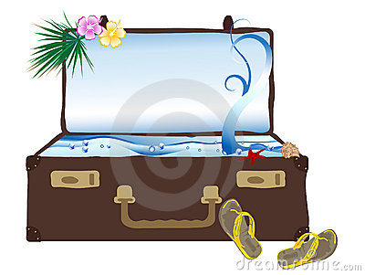 Sea in suitcase