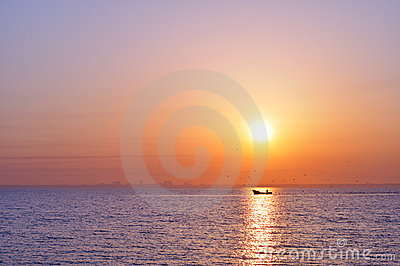 Sea at sunrise