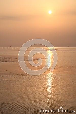 Sea sunrise of Toyama Bay