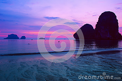 Sea sunset landscape