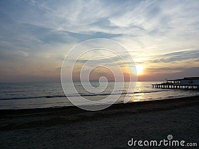Sea sunset Editorial Stock Photo