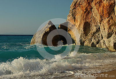 Sea surf Coast Rocks Waves Nature Water