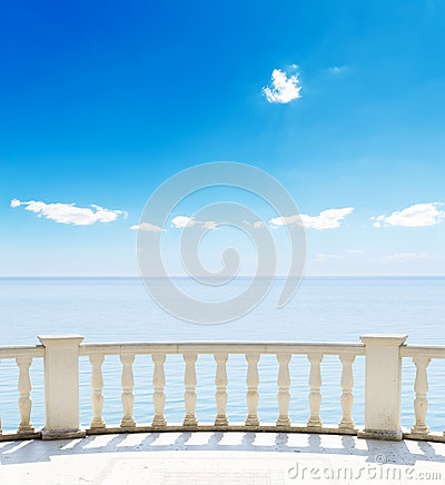 Sea from a terrace