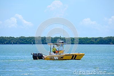 Sea Tow Boat Towing Service captain on call Editorial Stock Image