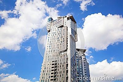 Sea Towers skyscraper in Gdynia, Poland Editorial Stock Photo