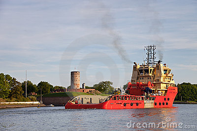 Sea trials tug Editorial Stock Photo