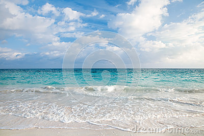 Sea and tropical sky in Caribbean beach
