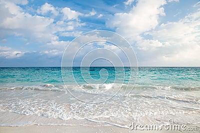 Sea and tropical sky in Caribbean beach