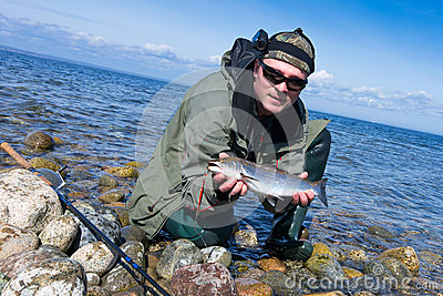 Sea trout fishing adventure