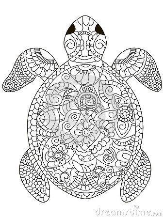 Coloring Book For Adults Vector Illustration Anti stress