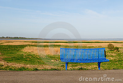 Sea view bench