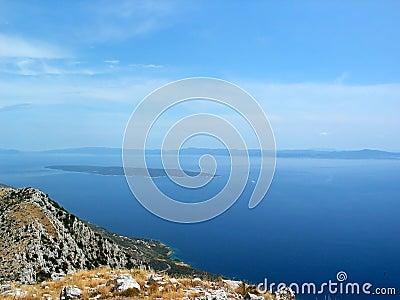 Sea view from croatian island