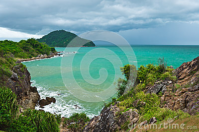 Sea view at the east  of Thailand.