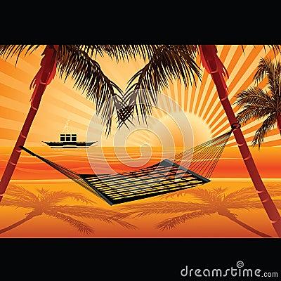 Sea view and hammock