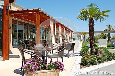 Sea view outdoor restaurant