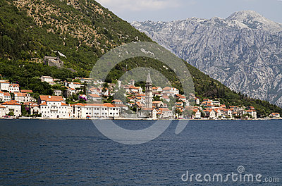 Sea view of Perast town
