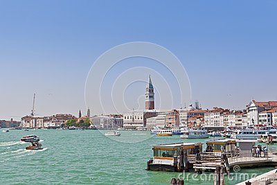 Sea view of Piazza San Marco. Venice, Ital Editorial Stock Image