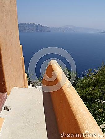 Sea view on Santorini, Greece