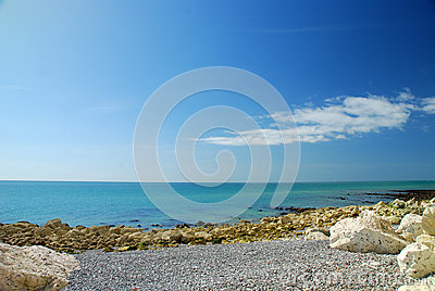 Sea view in South England, UK