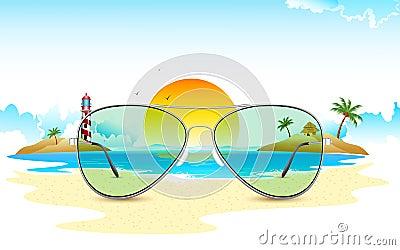 Sea View through Sun Glasses