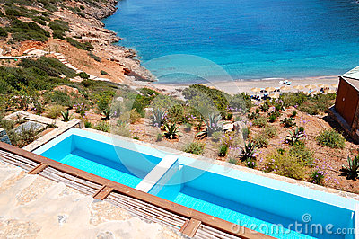 Sea view swimming pools at the luxury villa