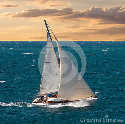 Free Sea Voyage On Yacht Stock Photography - 36957492