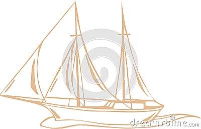Sea voyage vector