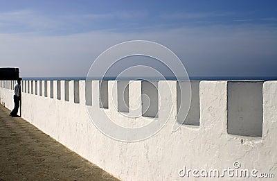 Sea Wall in Asilah Morocco