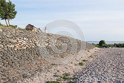 Sea wall of Urk, a Dutch fishing village