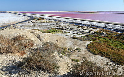 Sea water salt ponds