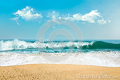 Sea water and sand