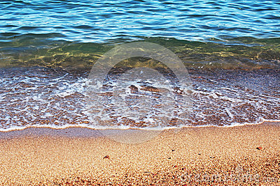 Sea water and sand background