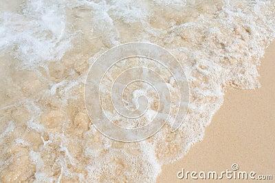 Sea water on sand beach