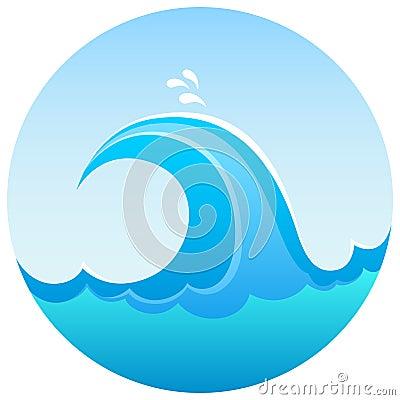Sea Wave Symbol Stock Photography Image 16050392
