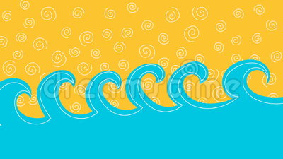 Sea waves and sand or sky loop animation stock video
