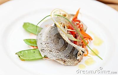 Seabass haute cuisine dish