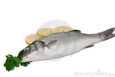 Seabass with herbs and lemon