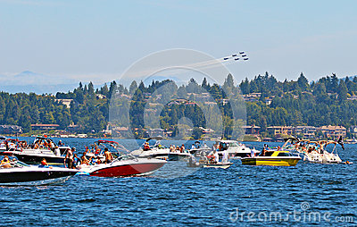 Seafair Blue Angels Editorial Image