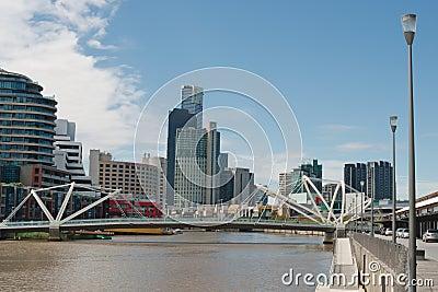 Seafarers Bridge in Melbourne Editorial Photography