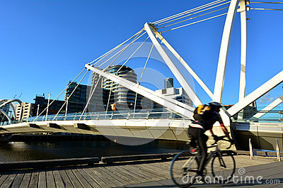 Seafarers Bridge - Melbourne Editorial Stock Photo