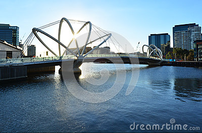 Seafarers Bridge - Melbourne Editorial Stock Photo