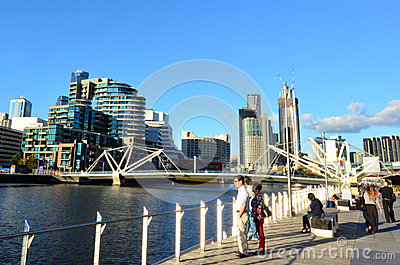 Seafarers Bridge - Melbourne Editorial Photography