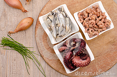 Seafood as appetizer